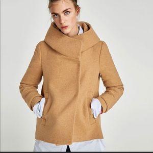 ZARA Wrap Collar Coat (XS)